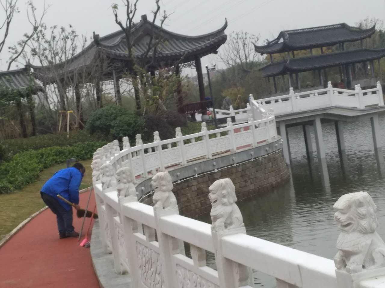 白鹭湖山庄酒店保洁成功案例